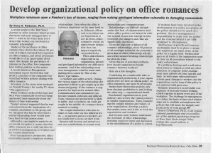 # 10 - May 04 - Develop organizational policy on office romances