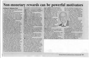 # 2 - Dec 02 - Non-monetary rewards can be powerful motivators