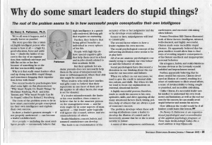 # 3 - Feb 03 - Why do some smart leaderss do stupid things?