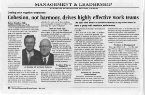 # 4A - May 02 - Cohesion, not harmony, drives highly effective work teams