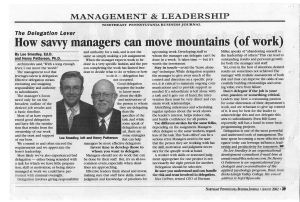 # 7A - Aug 02 - How savvy managers can move mountains (of work)